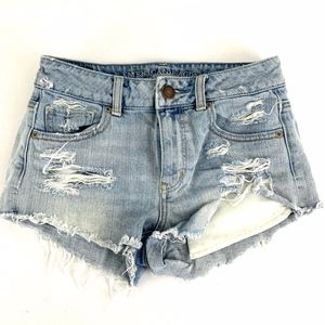 American Eagle Outfitters Cut Off Jean Shorts Hole